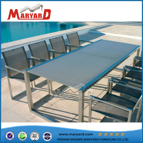 Extendable Tempered Glass Dining Table Set