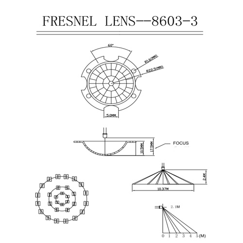 PIR Fresnel Lens for Lighting Controls (HW8603-3) pictures & photos