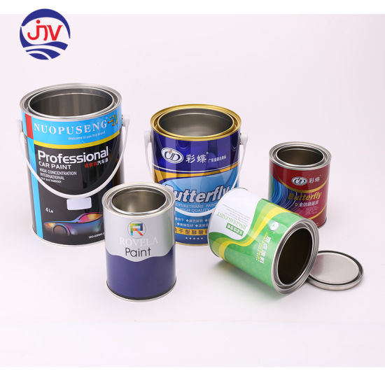 Empty Metal Paint Storage Cans with Tops Container Set
