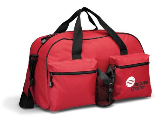 54f2fcef9 Promotion Polyester Sport Duffel Gym Bag with Bottle Holder pictures &  photos