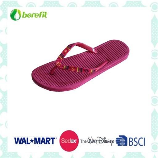 PVC Straps, PE Sole, Women's Slippers