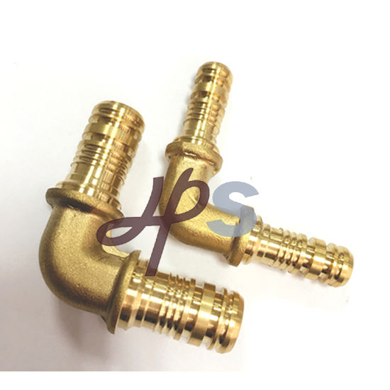 Brass Pex Female Wallplate Elbow Fitting pictures & photos