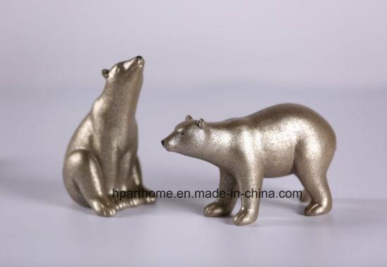 Art Polyresin Polar Bear Statue Home Decoration Promotional Gift
