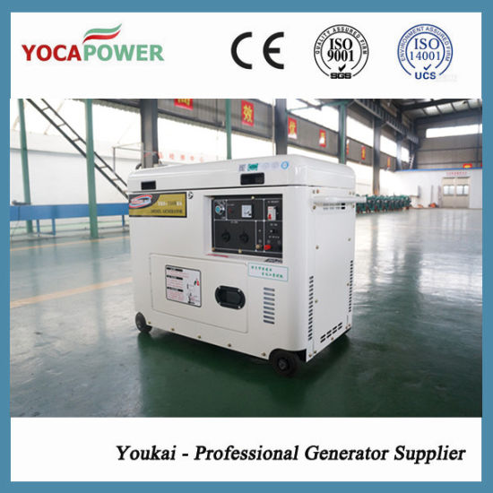 5.5kw Electric Start Air Cooled Silent Generator Set pictures & photos