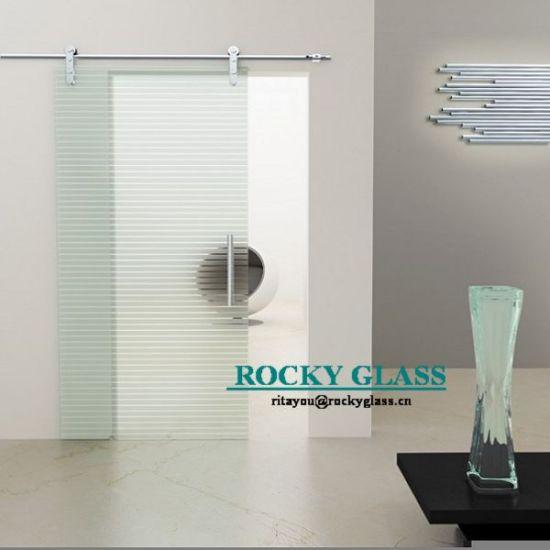Frosted Glass Sliding Door for Shower Room