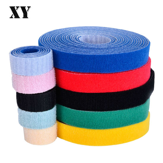 Best Quality Durable Hook and Loop Back to Back Cable Tie Tape for Wire Management