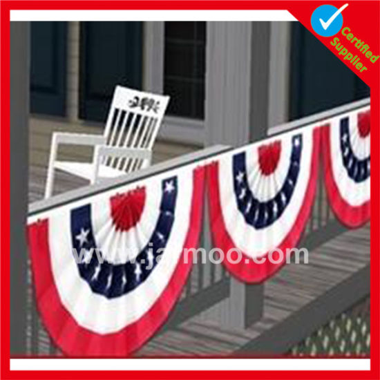 Jarmoo Customized USA Pleated Flag Bunting pictures & photos