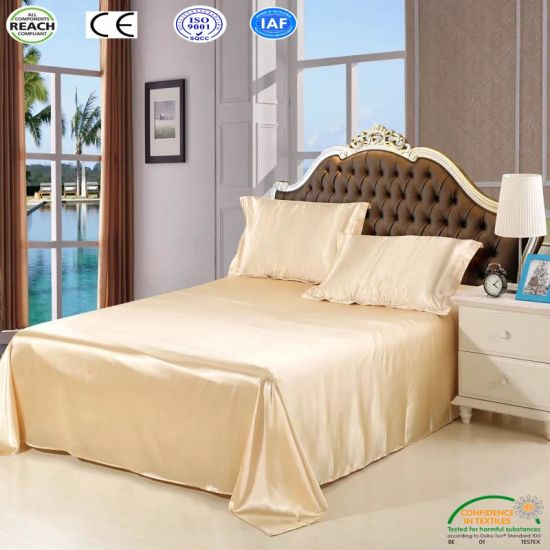 China Products/Suppliers Luxury White Satin Hotel Bedding Set Comforter Set pictures & photos