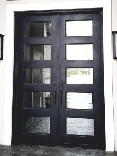 China Modern House Steel Pipe French Door Design Iron Door China Wrought Iron Door Interior Doors