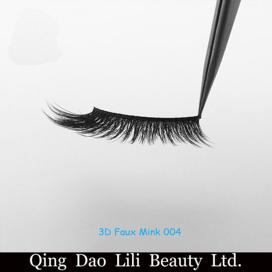 6ac70c67847 Fluffy 3D Faux Mink Fake Eyelashes at Factory Wholesale Price, Low Cost,  Korean Synthetic