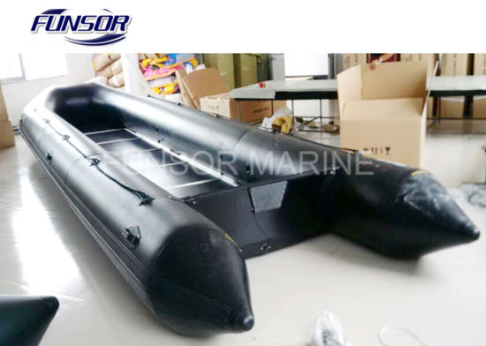 8m Large Inflatable Passenger Boat with Plywood Floor for Transportation pictures & photos