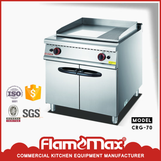 Gas Cooking Range with Half-Grooved Griddle for BBQ Crg-70