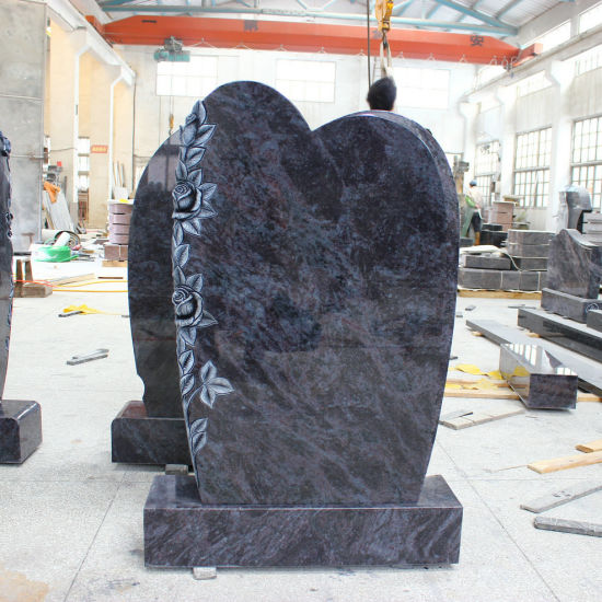 High Quality Orion Blue Granite Headstones Traditionelle Stelen pictures & photos