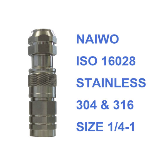 ISO 16028 Stainless Steel Flat Face Hydraulic Quick Coupling NPT/Bsp