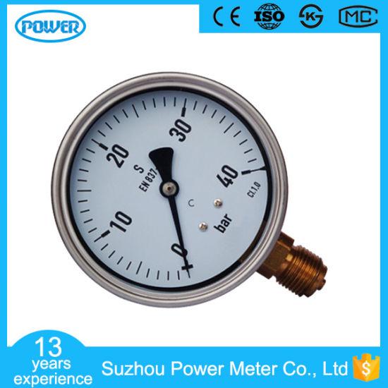 100mm Stainless Steel En837-1 Pressure Gauge Supplier Ce Approved