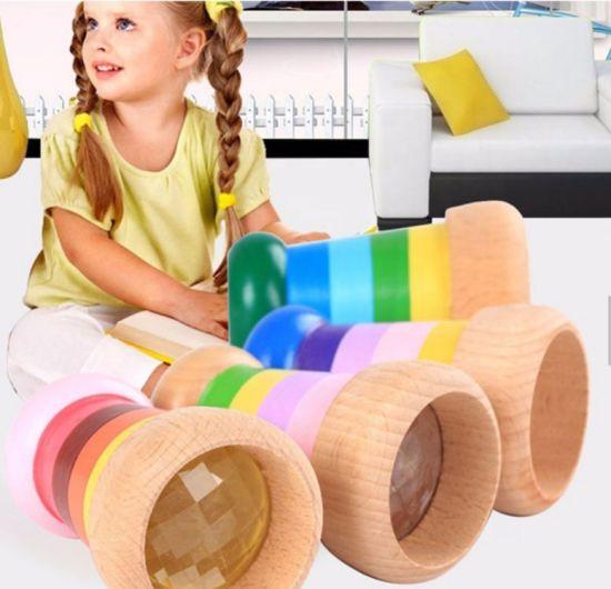 Early Education Bee Eye Prism Magic Kids Colorful Wood Kaleidoscope Toy