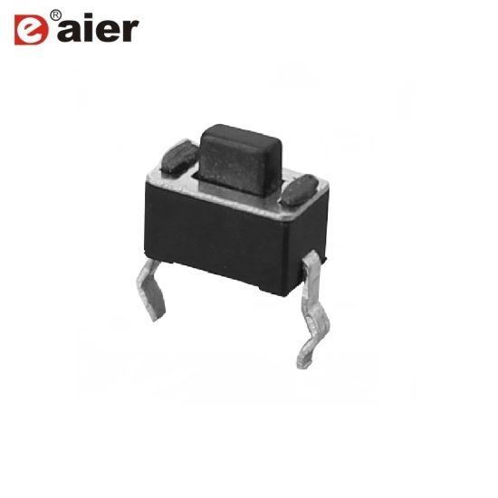 China Kfc Tactile Switch Black Momentary 3x6 2 Pin Tact Switch
