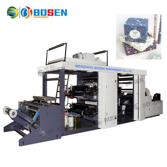 Fully Automatic High Speed Shopping Paper Bag Paper Cup Rolling Kraft Kfc Paper Flexo Printing Machine