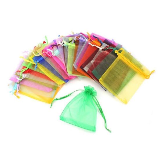 Promotional Organza Drawstring Bag Jewelry Bag Fabric Gift Bag