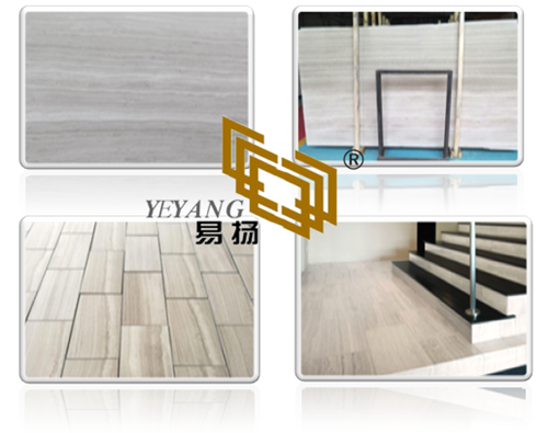 Chinese White Wooden Vein Marble for Flooring Tile and Slab pictures & photos