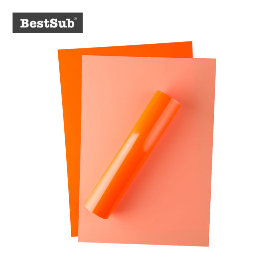 China Forever Flex Soft No Cut Foil A4 Neon Orange Fldnoa4