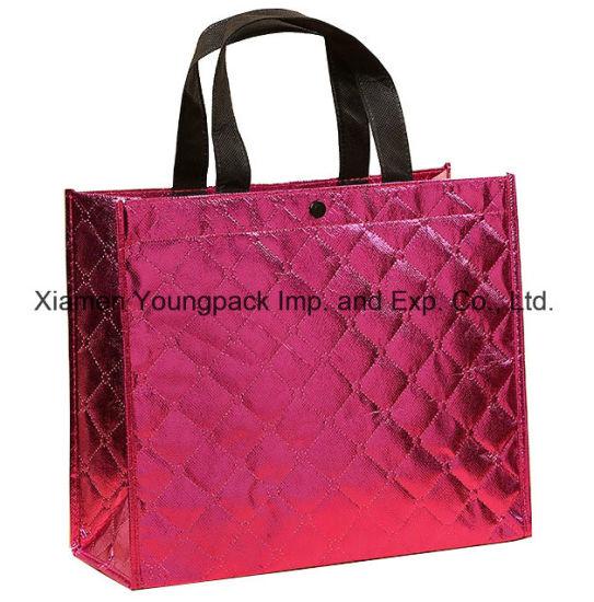 Fashion Promotional Custom Hot Pink Designer Patterned Metallic Non Woven  Gift Tote Bag. Get Latest Price dfa507cf96e5c