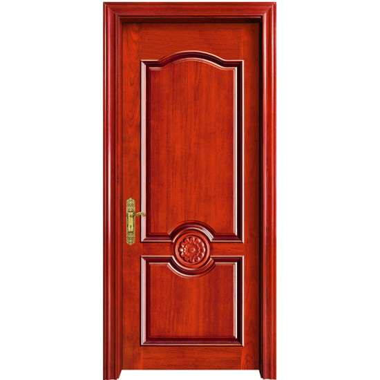 China Simple And Subtle Design Solid Wooden Exterior Door Yh 2037 1