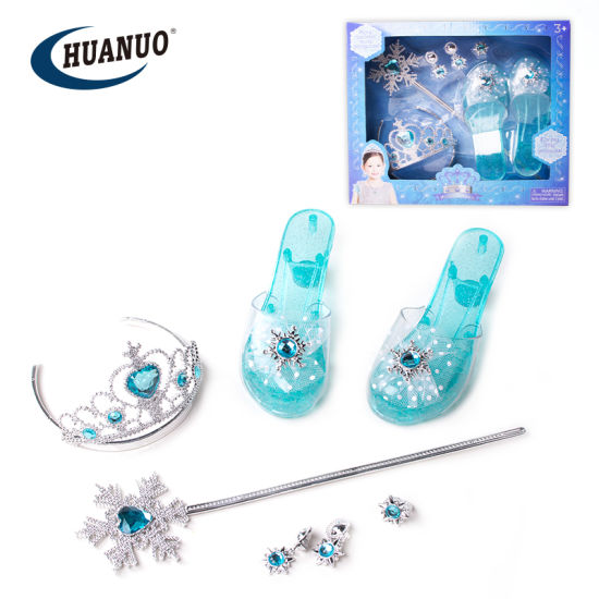 New Girls Dress up Toys jewelry Set with Snow Style Shoes