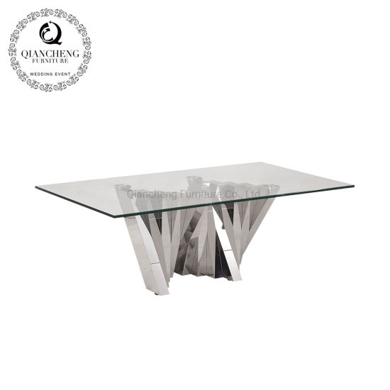 China Living Room Modern Furniture Coffee Table Glass Table