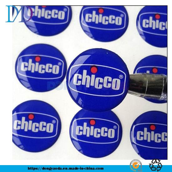 Permanent Colorful Dia. 1cm, 2cm Adhesive Epoxy Poly Dome Sticker for Lipstick