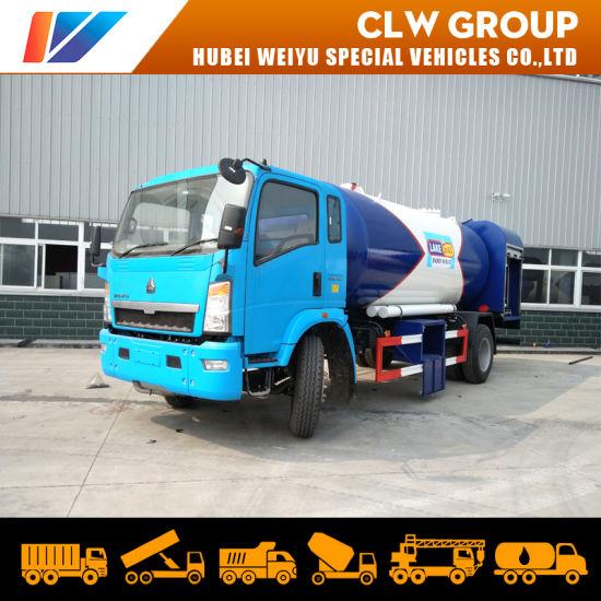8tons Gas Cylinder Refueling Truck 16000L 8mt 16cbm LPG Bobtail Truck
