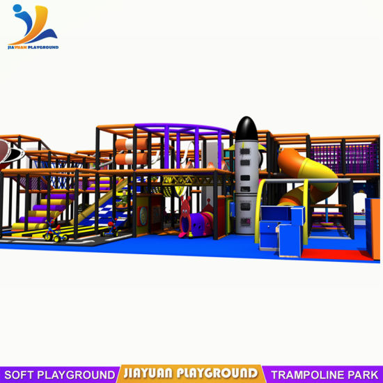 Used Indoor Playground for Kids with Fly Slide