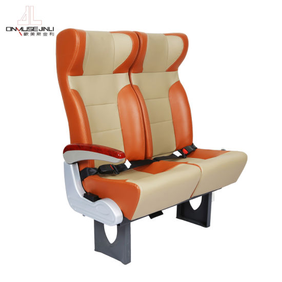 Adjustable High-End Luxury Durable Leather Auto Bus Seat/Reclining Coach Seat