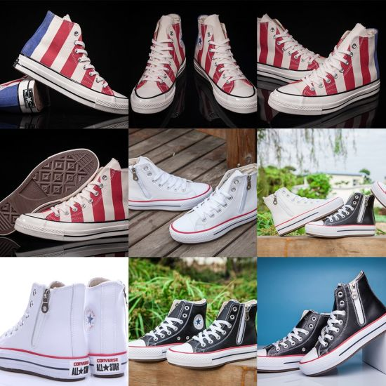Wholesale 1970s 162060c Three Stars Black White Putian Canvas Shoes