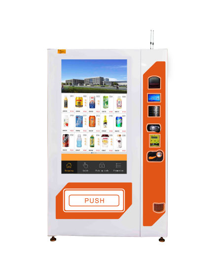 Xy Vending Machine with 49 Inch Touch Screen for Drinks Beverage Snacks
