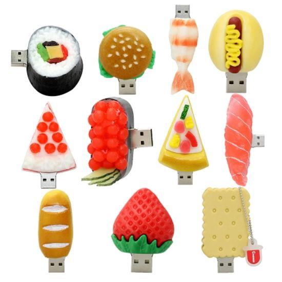 Custom Hamburger Foods USB Flash Drive 8GB 16GB 32GB Hot Dog Sushi Memory Stick