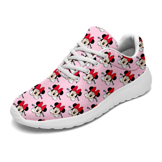 Custom Lightweight Sneakers Shoes for Casual Breathable Mesh Running Training Shoes Ladies Simple Colorful Pod