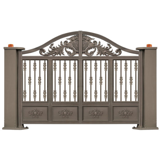 Exterior Residential Front Wrought Iron Main Entrance Security Sliding Driveway Gate Door Designs pictures & photos