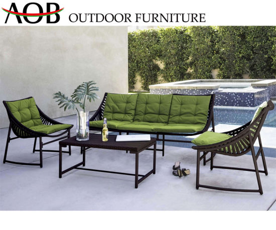 Wholesale Modern Outdoor Garden Home Hotel Livingroom Furniture Patio Lounger Beach Sets Aluminium Sofa with Cushion