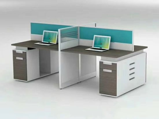 China 4 Person Workstation Two Sided Office Desk Factory