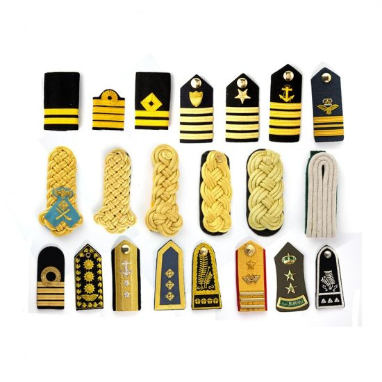 Uniforms Pilot Silver Epaulettes Military Rank Epaulettes Sale pictures & photos