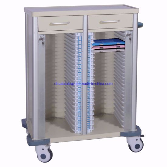 Hospital Furniture Recorder Torlley Double Row Car 50-Bar Drawer