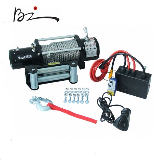 Electric Winch Wire Rope Winch with 13000lbs Pulling Capacity