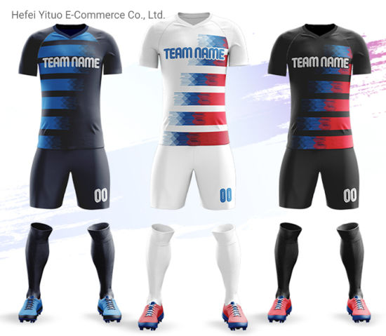 Sublimation Printing Polyester Cheap Price Dry-Fit Mesh Soccer Suits