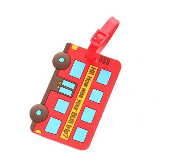 Personalized Logo 3D Travel Bright Colored Luggage Tags pictures & photos