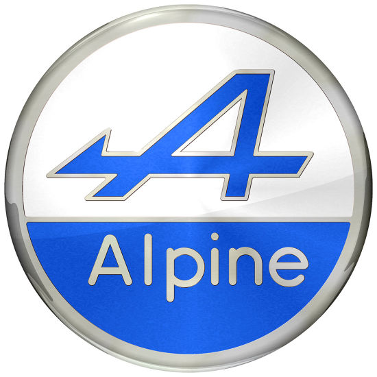 Alpine ABS Plastic Chrome Logo Emblem Badge for Car Decoration