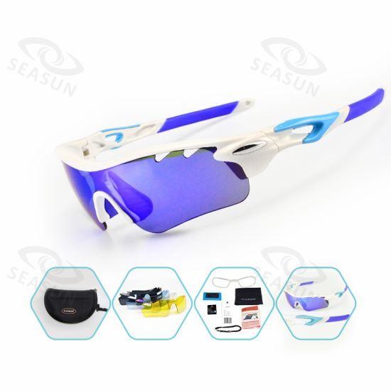 Photochromic Men Cycling Cheap Sports China Sunglasses Logo Print for Cycling Fishing Road Riding Glasses with Lens 5