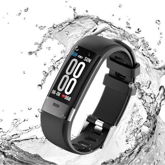 ECG+ PPG Color Screen Smart Bracelet Step Heart Rate ECG Blood Pressure Detection ECG+PPG Measurement Smart Bracelet