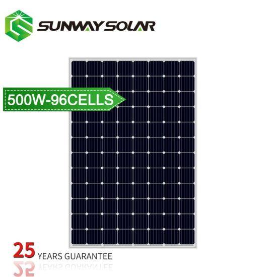 25 Years Warranty 500wp 48V Solar Cell Plate Solar Panel
