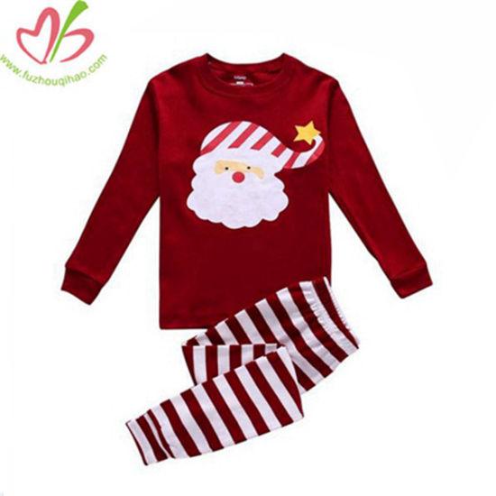 USA Hotsale Kids Christmas Design Clothes Set with Santa Clause